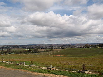 Bacchus Marsh - The urban area as viewed from its rural-urban fringe.