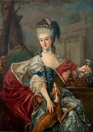 Elżbieta Czartoryska (1736–1816) - Portrait by Marcello Bacciarelli