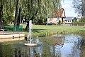 Bad Klosterlausnitz, fountain in the pond, image 2.JPG