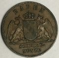Baden commemorative friedenskreuzer 1871 obverse type 1.jpg