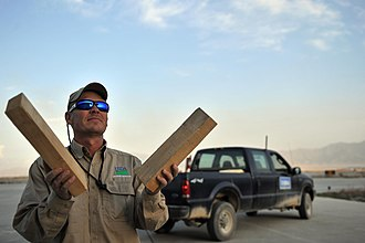 Wildlife Services - Wildlife Services bird control agent at Bagram Air Field, Afghanistan