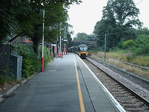 Baildon railway station - The view from the platform