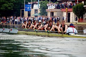 Balliol College Boat Club - Balliol College 1st VIII rowing to the Summer Eights Headship in 2008.
