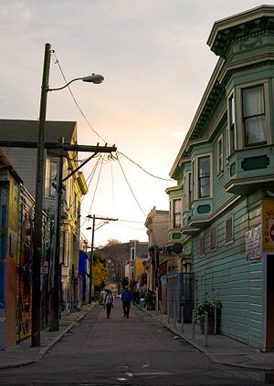 Balmy Alley - Image: Balmy Alley Looking North