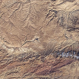 Band-e Amir National Park - Band-e Amir National Park as seen from space