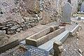 Bannow St. Mary's Church Nave South Wall Open Sarcophagus 2012 10 02.jpg