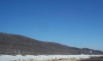 Baraboo Range - Looking east down the range on Wisconsin Highway 78
