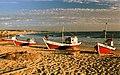 Barcas en la playa de Punta del Diablo, Rocha, Uruguay - panoramio.jpg