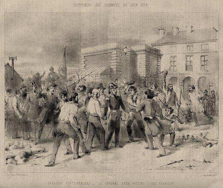 File:Barrière Fontainebleau - Le Général Bréa, Victime d'une trahison.jpg