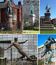 Barrow-in-Furness statue collage