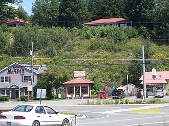 Highland, Sullivan County, New York - Intersection of Routes 55 and 97 in Barryville.