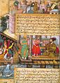 Basawan. Tamarusa and Shapur at the Island Nigar. An illustration from the Darabnama, ca.1585-1590, British Library, London.jpg