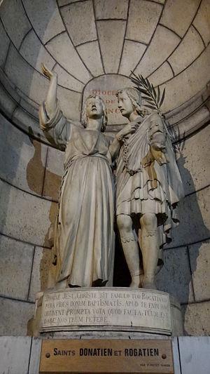 Donatian and Rogatian - Image: Basilique du Sacré Cœur de Montmartre crypte Saints Donatien et Rogatien par P. Potet 1850