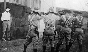 Execution by shooting - A Batista firing squad in Cuba