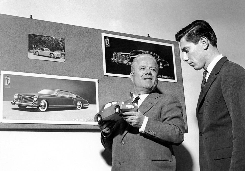 Battista 'Pinin' Farina and his son Sergio, ca. 1950