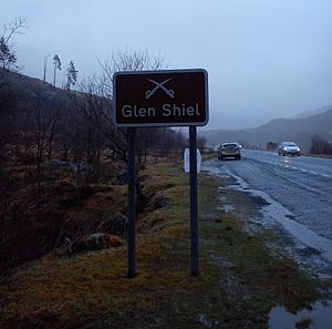 Battle of Glen Shiel - Road sign, Glen Shiel 2015