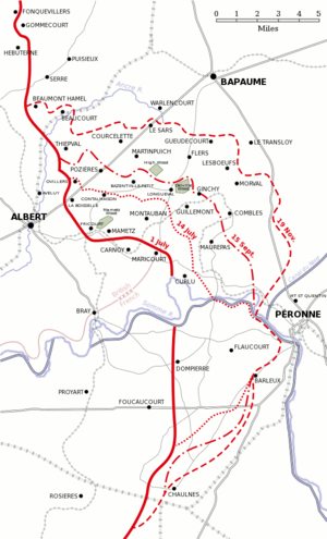 1st Infantry Brigade (South Africa) - Map of the Battle of the Somme, depicting Delville Wood
