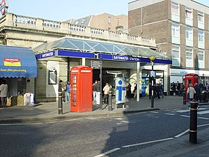 Bayswater tube station - Entrance on Queensway