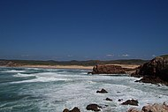 Beach west coast Portugal - panoramio.jpg
