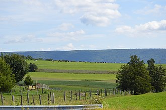 Juniata County, Pennsylvania - Fields near Tuscarora Creek in Beale Township, with Limestone Ridge in the background