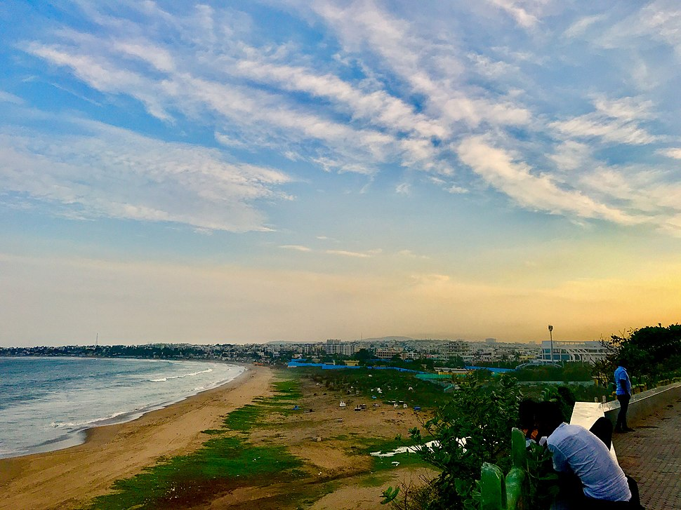 Beautiful view of Visakhapatnam and Bay of Bengal from Tenneti park 1