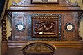 Bedstead with carving and marquetry (28152750929).jpg