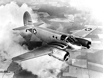 Beechcraft AT-10 Wichita - Image: Beechcraft AT 10 GF in flight c 1943