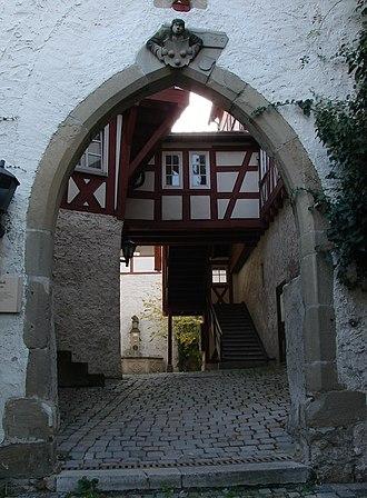 Freiberg am Neckar - Old Castle at Beihingen, view into the interior court