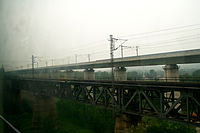 Beijing–Shanghai High-Speed Railway and Beijing–Shanghai Railway.jpg