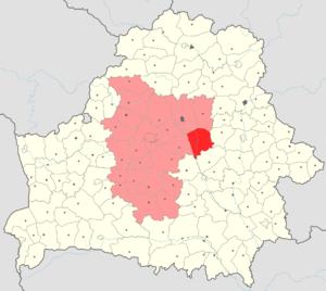 Березинский район на карте