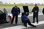 Belgian Federal Police speedometer calibration on airstrip 140514-A-RX599-002.jpg