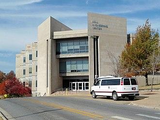 University of Arkansas College of Engineering - Image: Bell Engineering Center, Autumn