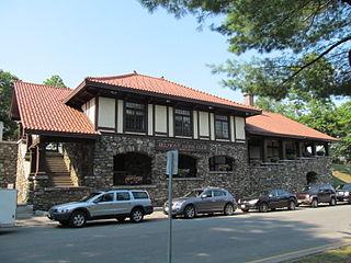 Belmont Center station Railway station in Belmont, Massachusetts