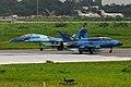 Bengal blues! Bangladesh Air Force Mig-29UB and FT-7BG (24585368545).jpg