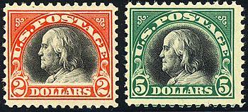 Benjamin Franklin 2-Big-Bens 1918 Vydání