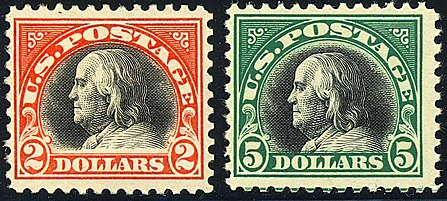Benjamin Franklin 2-Big-Bens 1918 Issue.jpg