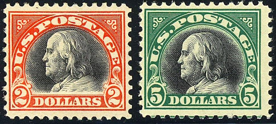 Benjamin Franklin 2-Big-Bens 1918 Issue