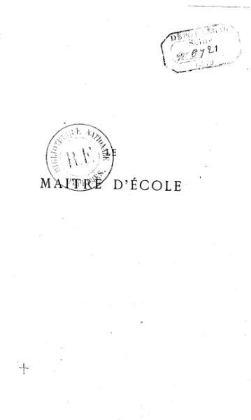 File:Bergerat - Le Maître d'école, 1870.djvu