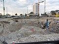 Berlin-S21 Baugrube-von-Nordostecke-Hbf-bis-Invalidenstr August2013 LWS2718.JPG