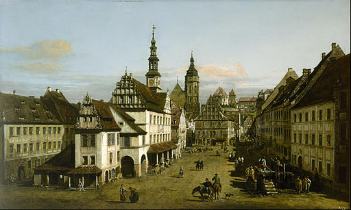 Bernardo Bellotto - The Marketplace at Pirna - Google Art Project