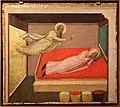 Bernardo daddi, storie di santo stefano, 1337-38 (musei vaticani) 02 apparizione di gamaliel al prete luciano.jpg