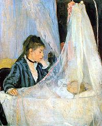 Berthe Morisot, Le berceau (The Cradle), 1872.jpg