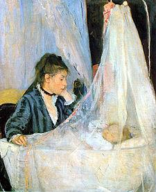 "Berthe Morisot - ""Vaggan"" (1872). Musée d'Orsay, Paris."