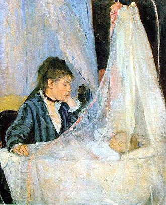 Berthe Morisot - Berthe Morisot, The Cradle, 1872, Musée d'Orsay