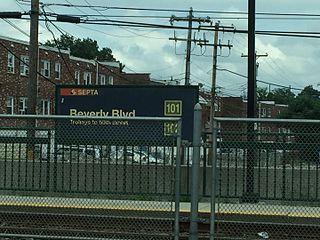 Beverly Boulevard station SEPTA trolley station
