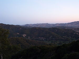 Ignacio, California - An early morning view from Big Rock Ridge trail.