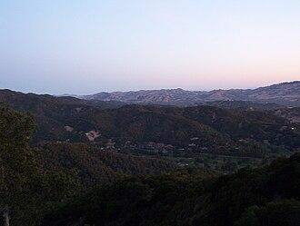 Ignacio, California - An early morning view from Big Rock Ridge trail.