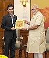 Billiards player Pankaj Advani calls on Prime Minister Narendra Modi.jpg