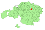 Location of Guernica in Biscay