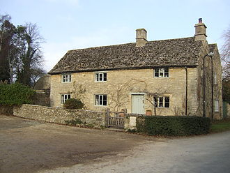 Black Bourton - The Old Inn, now a private house